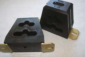 UNIVERSAL Black Polyurethane Bump Stop Set 4 1/2 Tall