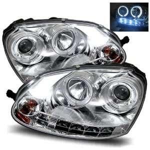 06 09 Volkswagen GTI Chrome LED Halo Projector Headlights Automotive