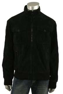 Adidas Originals C&S Black Suede Leather Jacket 2XL New