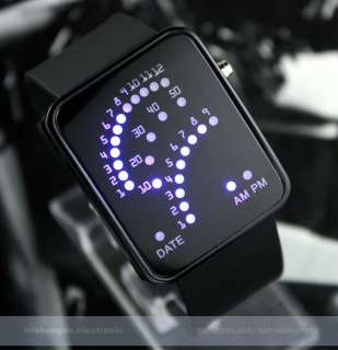 Blue RED Backlit LED Light Sports Date Digital Dial Mens Women Unisex