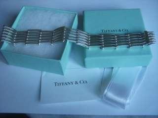 Tiffany & Co. 18K White Gold & Sterling Silver Gatelink Bracelet