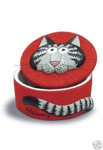 Kliban Big Cat Red Keepsake Box   NIB
