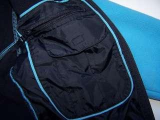 LANDS END Girls Fleece Jacket M 5 6 EUC Blue Gloves