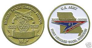 ARMY FORT LEONARD WOOD MILITARY POLICE CHALLENGE COIN