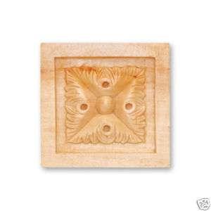 Hand Carved Hard Wood Rosette Onlay Corbel