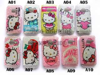 10x Hello kitty Bling Case Cover Skin for NOKIA C3 New