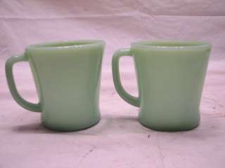 FIRE KING JADEITE JADE GLASS D HANDLE COFFEE CUP MUG