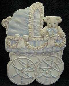 CAROL WILSON CONGRATULATIONS NEW BABY BOY MBOSSED & DIE CUT CARRIAGE