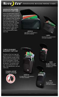 Black Nite Ize cargo Case for Casio GzOne C771 Commando
