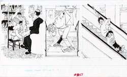 PAUL COKER JR  MAD #257 ESCALATOR/TEACHER NOTE ORIG ART