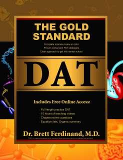 Gold Standard DAT Prep Book Dental Admission Test Exam