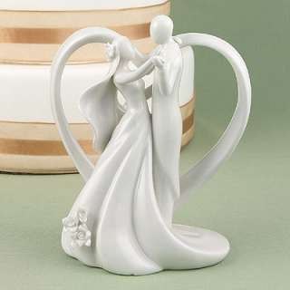 Bride Groom White Heart Arch Wedding Cake Top Topper