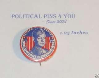 Campaign pin pinback button General Dwight Eisenhower