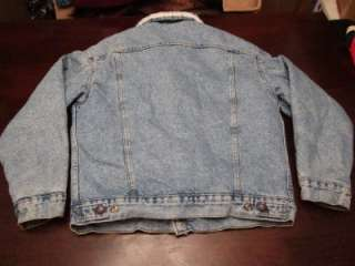 Vtg Levis Red Tab Mens USA Denim Jean Sherpa Lined Rancher Rugged