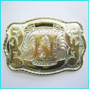 New Western English Letters N Belt Buckle WT 078N