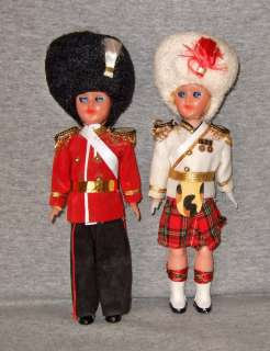 Vintage Boy & Girl Palace Guard Dolls~8~hard plastic