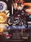1972 Triumph Tiger 650 Motorcycle Original Color Ad |