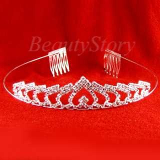 ADDL Item  rhinestone crystal crown tiara headband