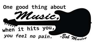 BOB MARLEY MUSIC QUOTE WALL ART VINYL STICKER DECAL
