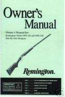 Remington Model SPR 210 & SPR 220, ShotGun Gun Manual