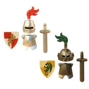 LEGO Knight Armor Pack (Metallic) 2 Sets   LEGO Kingdoms