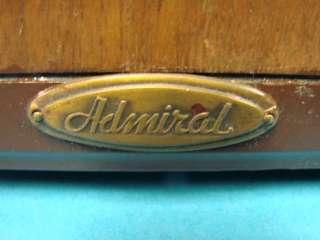1937 Vintage Admiral Tube Table Top Radio Model B325 Art Deco AM SW