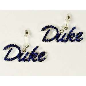 Duke University Blue Devils Crystal Logo Earrings Sports