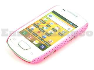 Mesh Back Cover Case Samsung S5570 Galaxy Mini Pink