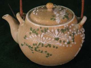 ANTIQUE JAPANESE SATSUMA MORIAGE TEA POT