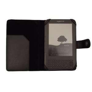 Tech Black Leather Flip Case for  Kindle 3 3G Wifi Electronics