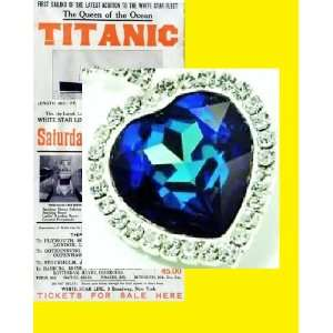 Large Swarovski Crystal Heart of the Ocean Necklace Titanic Prop