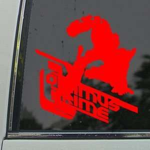 TRANSFORMERS Red Decal Optimus Prime Truck Window Red
