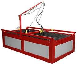 Samson 510 CNC Plasma Cutting Table   complete setup   ready to cut