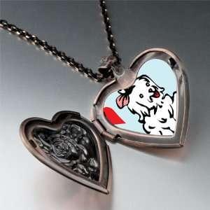 Maltese Dog White Pendant Necklace