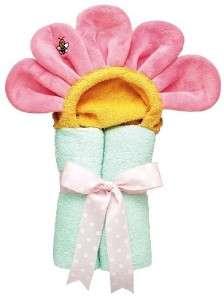 New AM PM Kids Tubbie Pastel Pink Flower Hooded Bath Towel