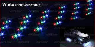 Universal 7 Colors Underglow LED Neon Light Kit Black Controller 36x