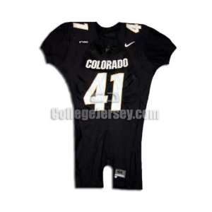 Black No. 41 Game Used Colorado Nike Football Jersey
