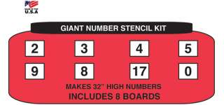 Giant Number Stencil Kit   Great For Athletic Fields