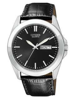 wedding bands citizen bf0580 06e men s black strap quartz watch with