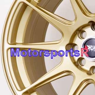 16 16x8.25 XXR 527 Gold Concave Rims Wheels Stance 95 98 Nissan 240sx