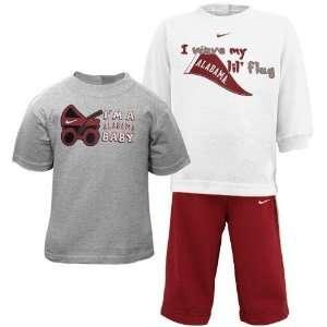 Nike Alabama Crimson Tide Infant White Ash Crimson T shirt