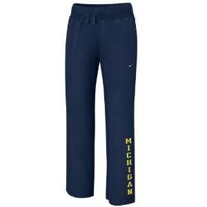 com Nike Michigan Wolverines Ladies Navy Blue Classic Knit Sweatpants