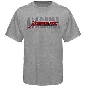 Alabama Crimson Tide Ash Slant Type T shirt