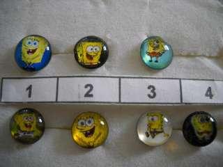 Choice of 1 Pr Stainless Steel Spongebob Post Earrings
