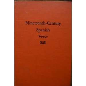 Nineteenth Century Spanish Verse Jose Sanchez Books