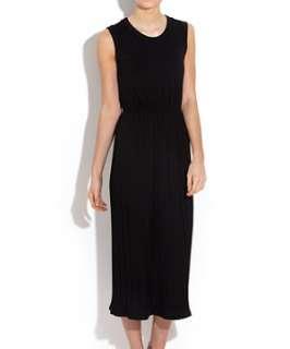 Black (Black) Black Pleated Jersey Midi Dress  242587801  New Look