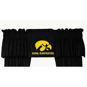 NCAA IOWA HAWKEYES LOGO WINDOW VALANCE: Sports & Outdoors