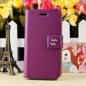 Korea Deluxe PU Leather Wallet Case Cover for iPhone4/4s