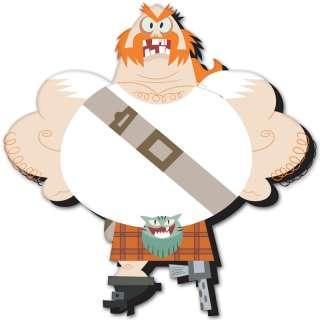 Samurai Jack The Scotsman car bumper sticker 4 x 4