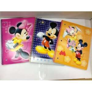 Pack Disney Mickey & Minnie 50 Sheet Spiral Notebooks